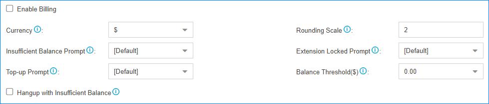 S-Series VoIP PBX Billing App Basic Settings